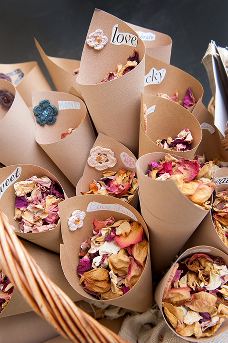 Love, sweet, photographer, photography, floral, flowers, dried rose petals, kiss, honey, brown paper, texture, stock, wedding, ceremony, details, beautiful, hand-made, craft, outback, country, South Australia
