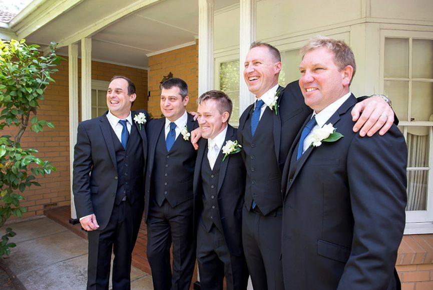 Adelaide South Australia photography groom groomsmen photographer wedding suit flower home