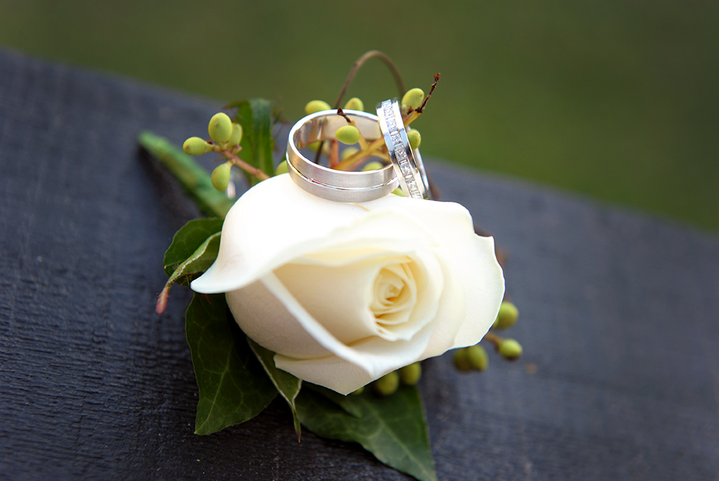 groom photographer Adelaide wedding rings band white rose flower suit photography South Australia green