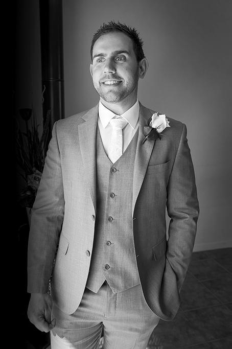 groom wedding suit flower white grey blazer jacket slacks Adelaide Italian happy photographer Australia Photography home