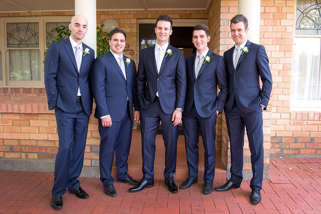 happy, before the church, groom, groomsmen, love, photographer, photography, South Australia, blue suits, black leather shoes, white, grey, silver tie, Adelaide