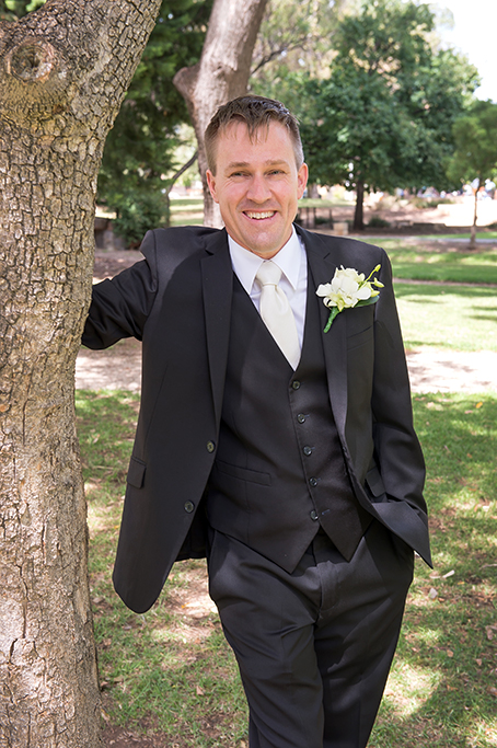 groom wedding Adelaide photography South Australia photographer suit outdoors trees