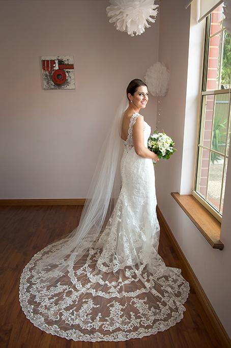 South Australia bride happy wedding flowers photography bouquet home Adelaide lace photographer dress