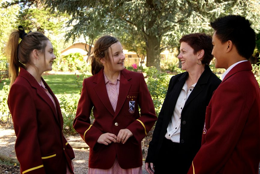 education, high-school, primary school, students, teacher, education, kids, uniform, blazer, Cabra Dominican College, outdoors, nature, corporate location photography, Adelaide, photographer, South Australia