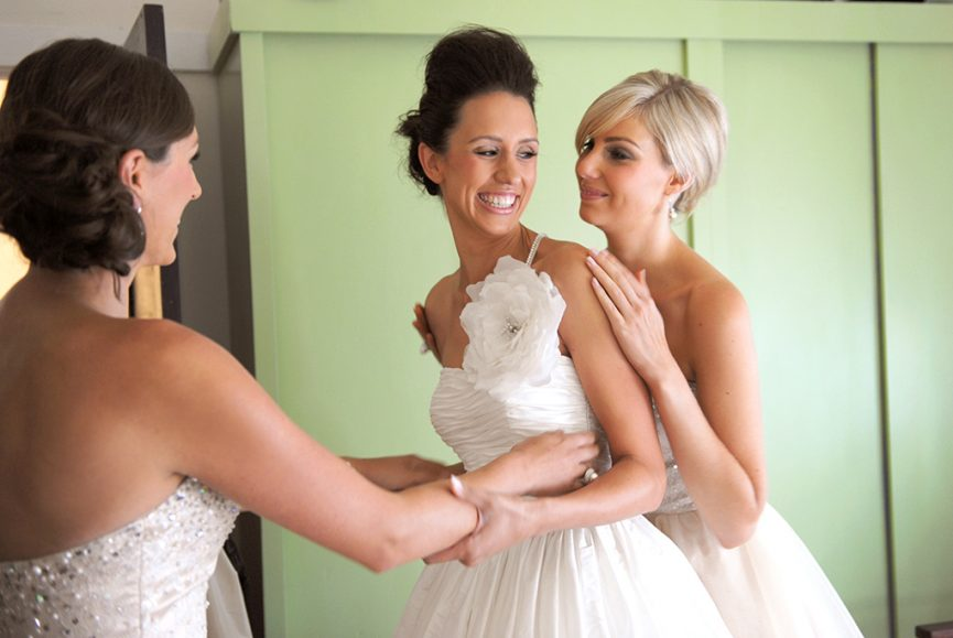 bride mint green beautiful wedding dress flower sequins bridesmaid photography South Australia up-do hair happy wedding silver accessories home getting ready photographer Adelaide