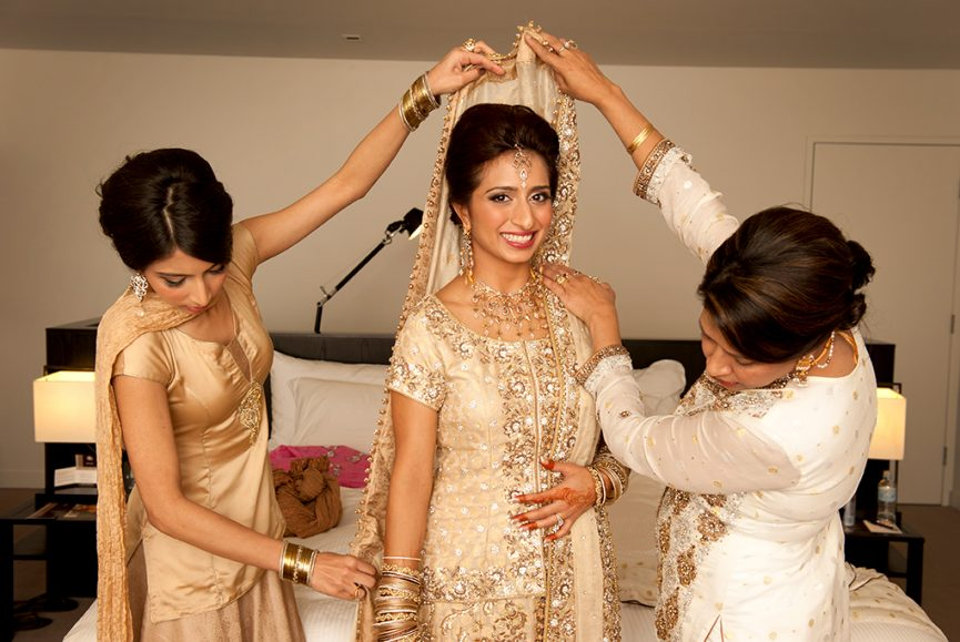 beautiful, bride, Adelaide, photographer, happy, love, photography, Indian, wedding, traditional, getting ready, bedroom, lamps, bed, gold, embellished, sequins, silver, family, henna, ink, art, tattoos, temporary, bangles, rings, earrings, headpiece, necklace, white, South Australia