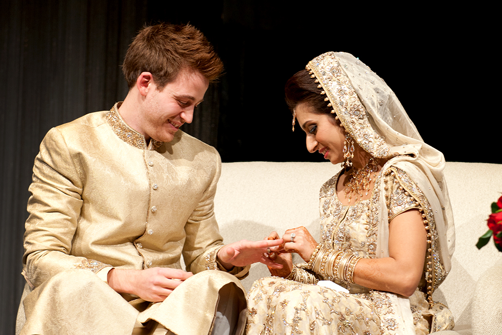 rings, wedding, henna, love, happy, groom, photography, bride, Hilton, Adelaide, South Australia, reception, Indian, traditional, Muslim, couch, embellished, gown, dress, gold, bangles, headpiece, earrings, necklace
