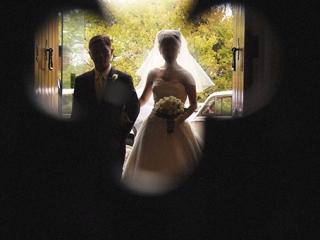 church, entrance, father, bride, wedding, trees, Adelaide, photography, door, ceremony, strapless, suit, tie, black, photographer, Australia, shirt, happy, love, veil, dress