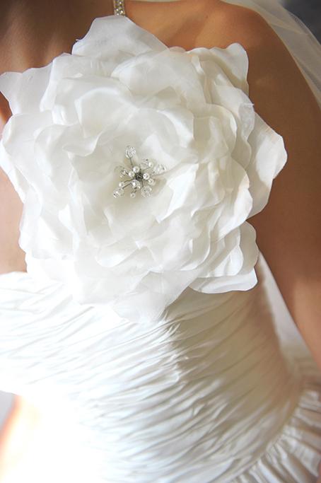 dress wedding details white flower silver sequins wedding photographer beautiful photography Adelaide South Australia