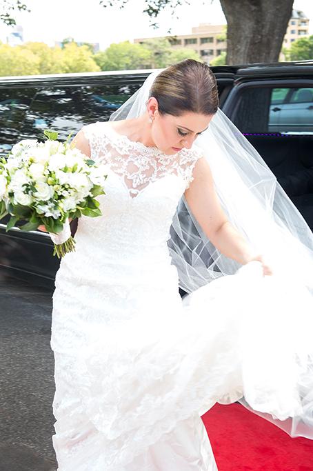 bride photography flowers bouquet lace dress red carpet wedding church limo South Australia limousine photographer