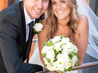 black, charcoal, suit, tie, white, shirt, love, wedding, photography, bride, groom, veil, dress, flowers, roses, bouquet, wine centre, Adelaide, Australia, happy, newlyweds