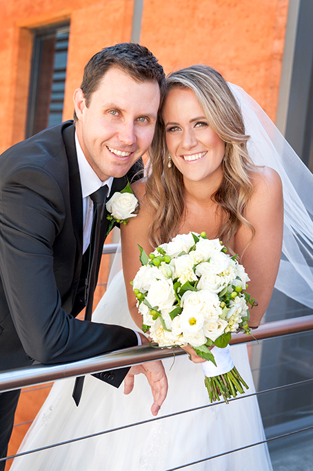black, charcoal, suit, tie, white, shirt, love, wedding, photography, bride, groom, veil, dress, flowers, roses, bouquet, wine centre, Adelaide, Australia, happy, newlyweds