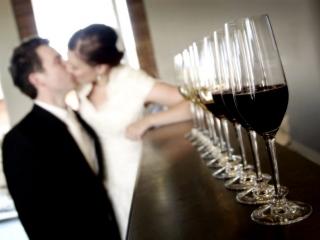 kiss, bride, groom, red, wine, white, happy, love, wedding, black, suit, jacket, white, tie, dress, earrings, beautiful, photographer, Australia, winery, Adelaide