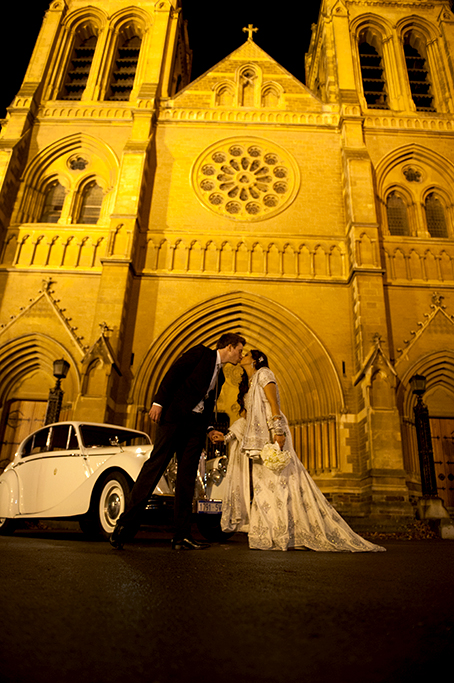 beautiful, romantic, photography, happy, love, kiss, bride, groom, Adelaide, church, arch, wedding, night, car, suit, embellished, dress, flowers, white, roses, bouquet, sequins, photographer