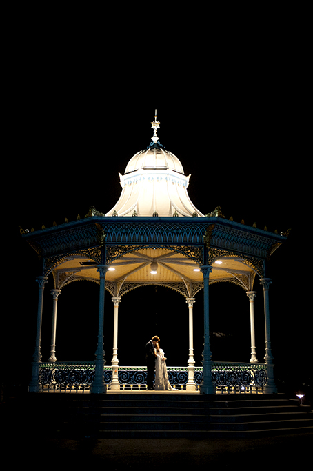 Adelaide, rotunda, pretty, night, photography, love, wedding, traditional, Indian, romantic, love, kiss, suit, lights, stairs, embellished, dress