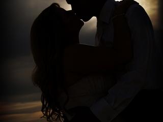 silhouette, beautiful, beach, moments, evening, sky, clouds, night, suit, Australia, dress, kiss, bride, wedding, photographer, groom, shirt, vest, tie, romantic, sand, Adelaide, photography