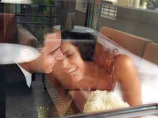 window, reflection, laughter, smiles, photographer, bride, groom, love, happy, Adelaide, candid, moments, chair, suit, shirt, tie, jacket, Australia, black, bouquet, flowers, photography, silver, white gold, necklace, dress
