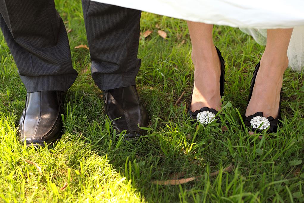 shoes black heels footwear attire fun wedding photographer Adelaide grey suit dress details South Australia photography