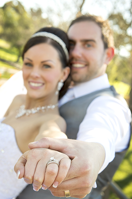 wedding day Italian beautiful groom bride photographer park Adelaide photography Australia grey suit vest strapless dress sequins silver white gold accessories headband earrings necklace rings jewelry engagement band happy smiles nails makeup