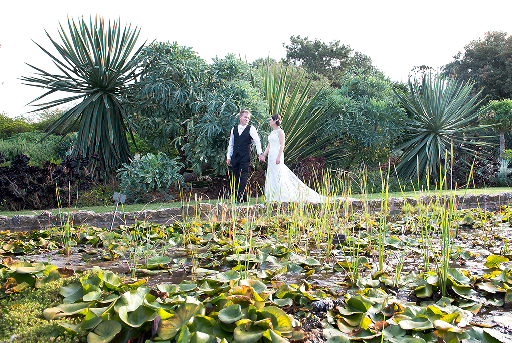 bride Adelaide groom suit lace Botanic Gardens South Australia walking pretty photography beautiful wedding photographer dress