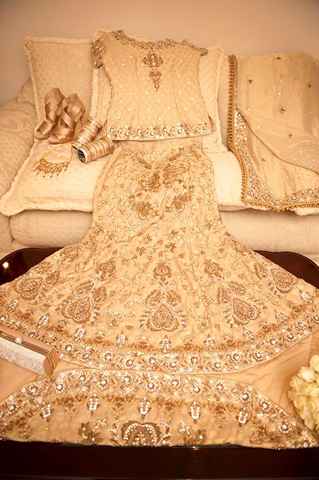 bride, wedding, dress, embellished, gold, sequins, beautiful, elegant, stunning, photography, photographer, traditional, Indian, clutch, bangles, sari, shoes, necklace, Adelaide, South Australia