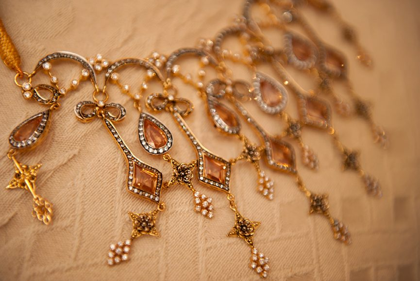 gold, embellished, attire, wedding, bride, photography, jewels, Indian, photographer, traditional necklace, Adelaide, South Australia