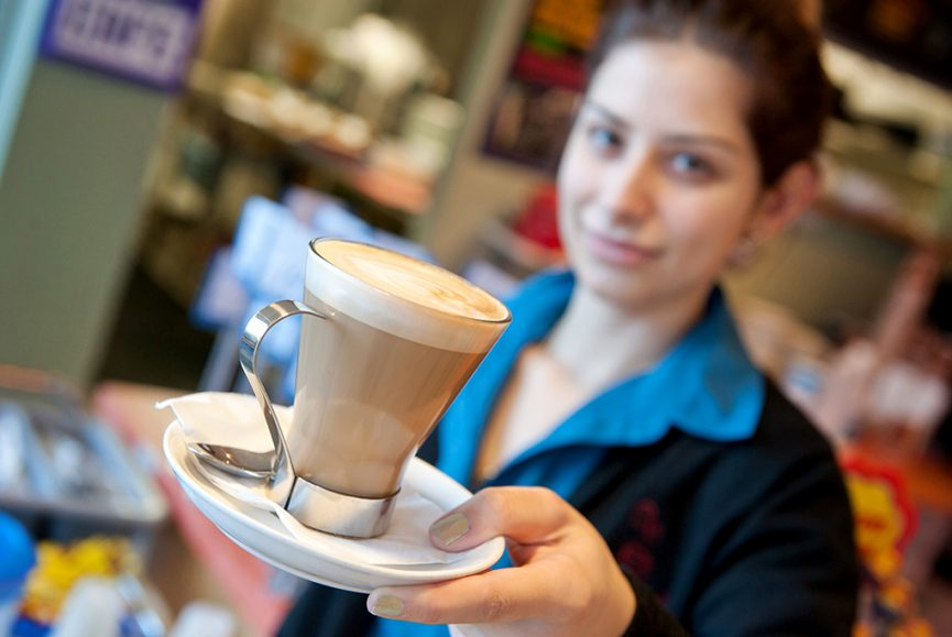 cafe, latte, caffeine, coffee, staff, corporate location photography, hospitality, Adelaide, South Australia, service, catering