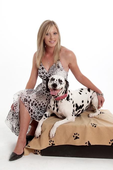 dalmatian dog, glamour, pet, photography, studio, black white, dress, dots, dog paws, footprints, Adelaide, South Australia, photographer