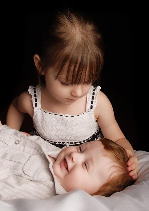 kids, studio, photography, happy, baby, siblings, children, Adelaide, black background, dress, South Australia, white, smile, photographer