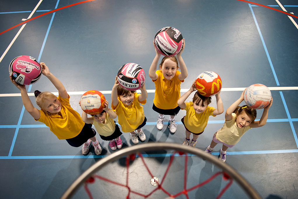 children's basketball team, training, Tea Tree Gully Council, Thunderbirds, Netball, McDonalds, court, sport, kids, corporate location photography, fitness, fun, photographer, Adelaide, South Australia