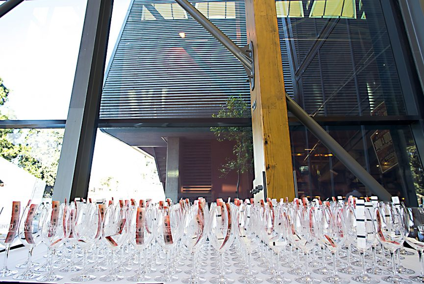 National Wine Centre Adelaide, Wine Glasses, Corporate entry shot with admission tickets, winter wine festival
