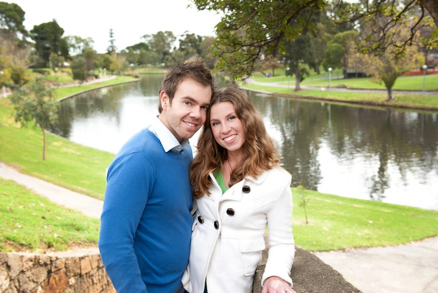 park, River Torrens, Adelaide, city, South Australia, nature, scenery, trees, couple, white coat, shirt, blue jumper, photography, location photographer