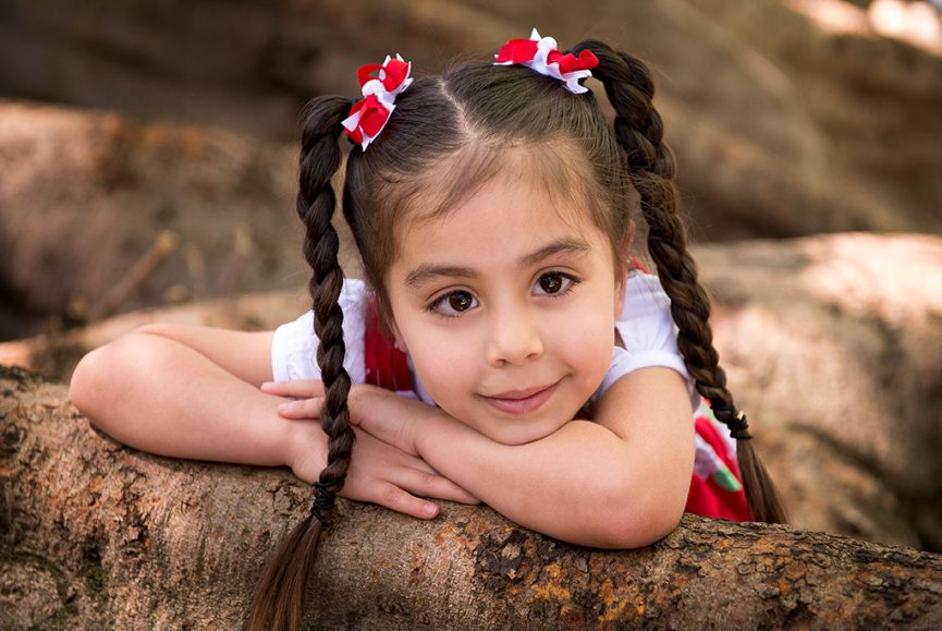nature, location photography, photographer, kids, children, girl, happy, Adelaide, South Australia, braids, pigtails, red bow, clips, dress