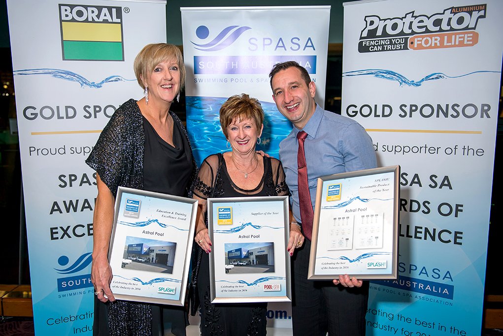 Corporate event photograph, award image, Swimming Pool and Spa Association annual awards night
