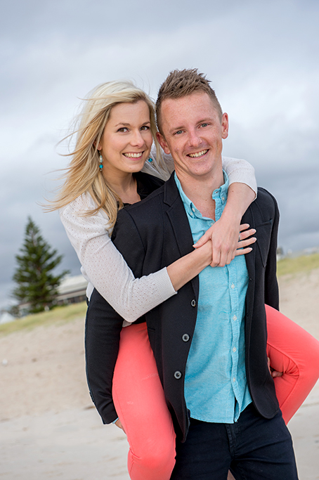 couples, happy, beach, location photography, photographer, pink, blue, white, black jacket, denim jeans, Adelaide, South Australia