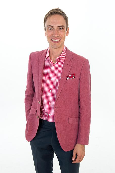 pink red blazer, checkered shirt, white, pants, white background, studio, head shots, corporate, happy, Adelaide, South Australia, photographer, South Australia