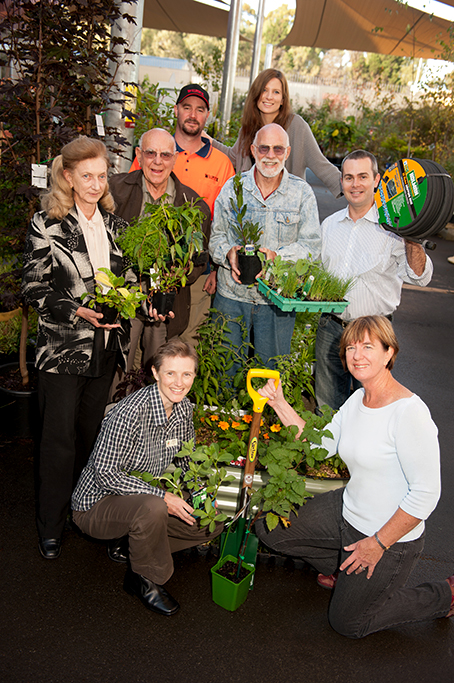 nursery, Adelaide, gardening, plants, garden, staff, customers, service, product, location, corporate photography, Adelaide, happy, hose, pot plant, flowers, South Australia