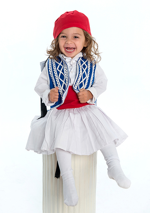 Greek outfit, cute, baby, happy, children, kids, boy, photography, photographer, Adelaide, South Australia, red, hat, blue, white
