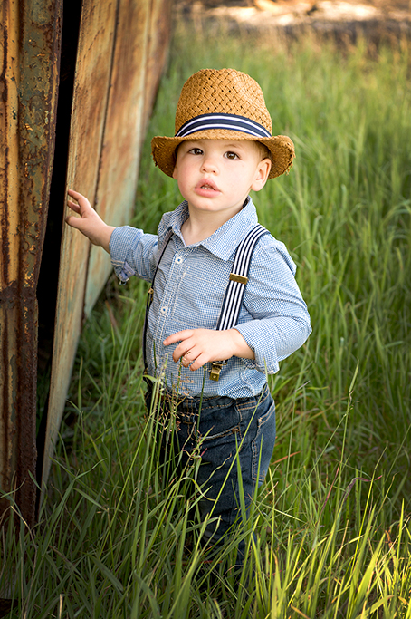 location photography, Adelaide, South Australia, outdoors, nature, boy, kids, children, photographer, hat, shirt, suspenders, denim jeans,