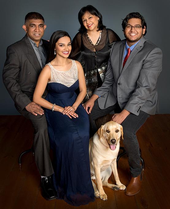 labrador, family, portrait, studio, formal, dog, pet, blazer, shirt, slacks, tie, dress, blue, grey, happy, photography, Adelaide, South Australia, photographer