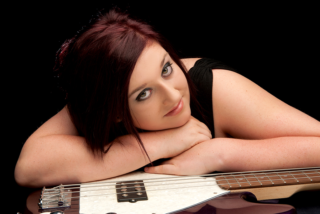 guitar, music, black background, glamour, Allure, Adelaide, photo-shoot, photography, South Australia, photographer
