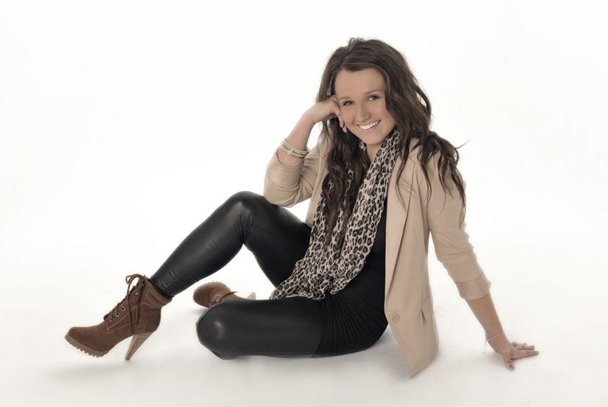 photo-shoot, glamour, allure, studio, photography, Adelaide, South Australia, happy, smile, leopard print, scarf, boots, heels, beautiful, portrait photographer